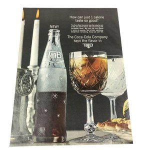 Vintage Coca Cola Tab Magazine Print Advertisement